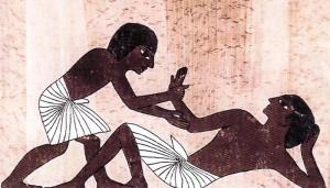 Hiéroglyphe égyptien technique ostéopathie
