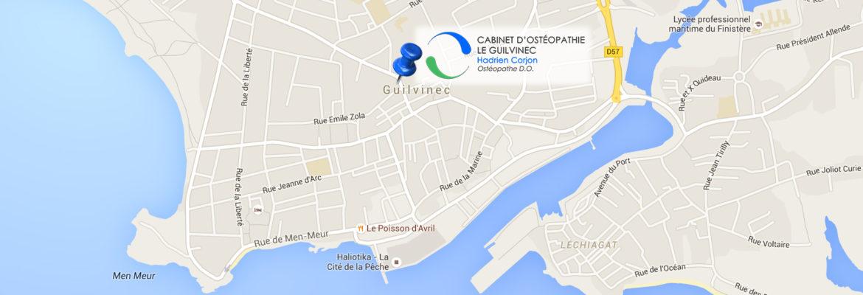 Hadrien Corjon Ostéopathe Guilvinec Finistère Carte